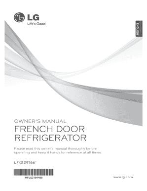fillable online lg lfxs29766s service manual repair guide ebooks rh pdffiller com owners manual lg refrigerator lfx28978st user manual lg fridge