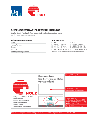 Paketbeschriftung - Fill Online, Printable, Fillable, Blank   PDFfiller