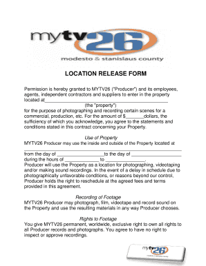 Location release form templates fillable printable samples for l location release form bmytv26bborgb platinumwayz
