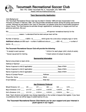 32 Printable Athletic Sponsorship Letter Forms And Templates