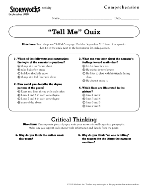 27 Printable all about me questions for middle school