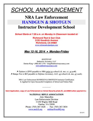 Fillable Online SCHOOL ANNOUNCEMENT - Richmond Hotshots Fax