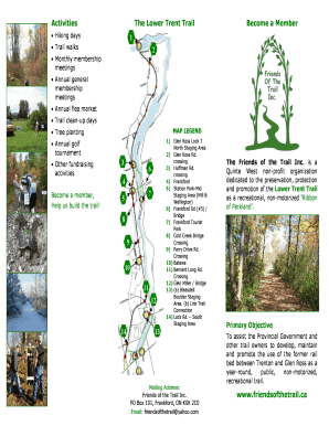Printable Membership Form - Friends of the Trail - friendsofthetrail