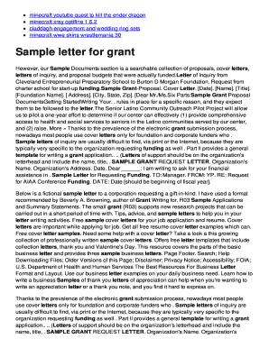 Fillable budget proposal sample letter - Edit, Print & Download Form