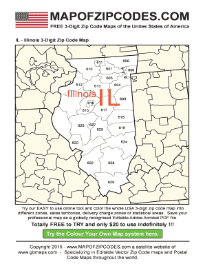 Fillable Online Il-illionois-zip-code-map A bespoke usa zip ... on indiana county map, illinois department of public health regions, il zip map, state of rhode island cities and towns map, illinois postal code map, belleville illinois state map, north shore of chicago map, illinois latitude map, illinois road map, illinois town map, illinois weather, 2015 illinois tornado map, illinois zip code list, illinois metro area map, illinois area code map, illinois tollway toll plazas map, illinois in warrenville il map, zip codes by state map, illinois district map 2014, il county map,