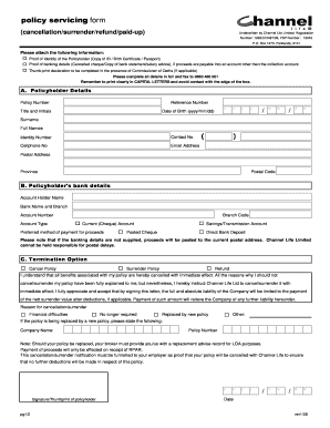 Fillable Online worksitesolutions co Policy servicing form ...