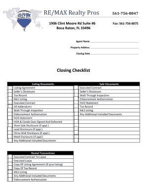 real estate closing checklist template - property inspection checklist forms and templates