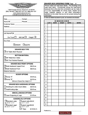 work order format in word