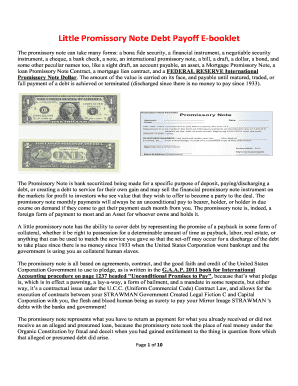 little promissory note template fill online printable