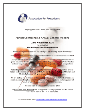 Save the Date Early Bird Registration - Association for Prescribers - associationforprescribers org