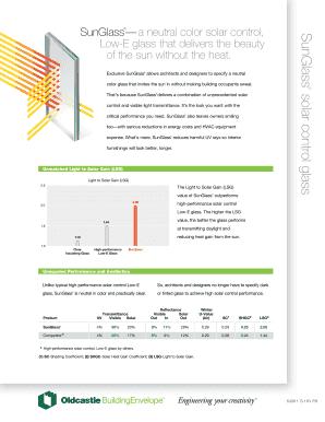 Fillable Online SunGlass a neutral color solar control, Fax
