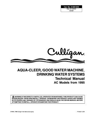 fillable online culligan aqua cleer manual jtp85 service manual rh pdffiller com culligan aqua cleer installation instructions culligan aqua cleer installation instructions