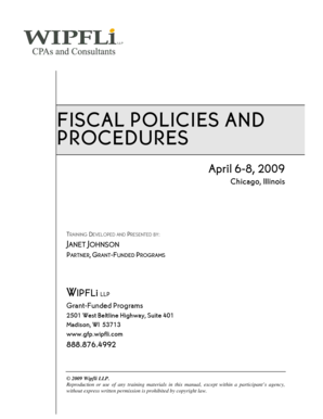 Fiscal policies and procedures - Fiscal Conference Training Materials