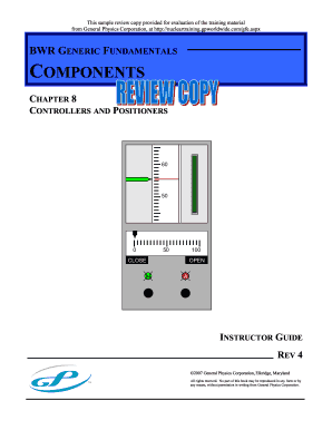 Controllers amp PositionersInstructor Guide - Nuclear Power Plant bb