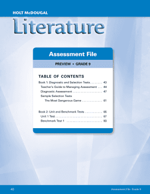 Assessment File Houghton Mifflin Harcourt - Fill Online, Printable