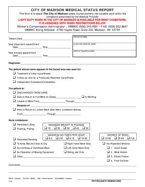 work status report form - Parfu kaptanband co