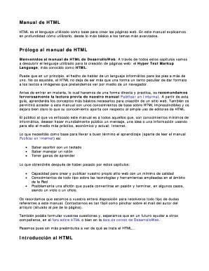 fillable online descargar el manual de html p ginas personales fax rh pdffiller com descargar manual html5 y css3 pdf descargar manual html5 y css3 pdf