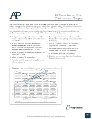AP Exam Seating Chart
