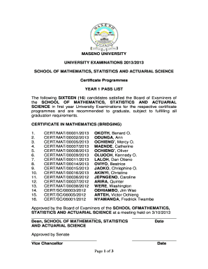 Example Of Copy Of Degree Certificate For Maseno - Fill
