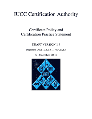 Iucc certification authority certificate policy and certification preview of sample ramat yadclub Image collections