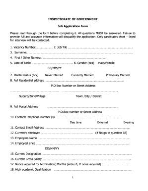 govt jobs online form filling