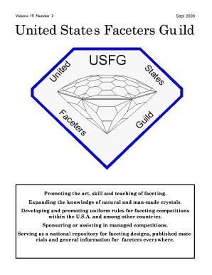 Fillable Online usfacetersguild Sept 09 USFG Newsletter pub - United