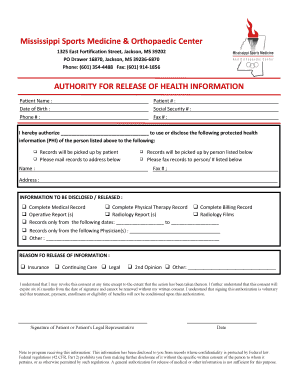 bill of sale form mississippi authorization to release medical