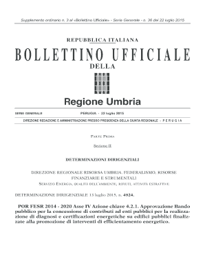 Fillable Online comunederuta gov BUR Umbria - Serie ...