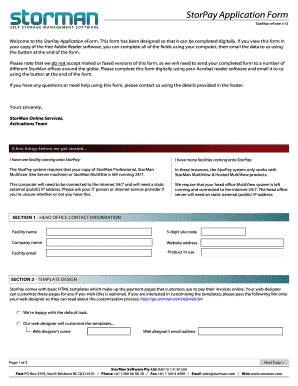 StorPay Application Form
