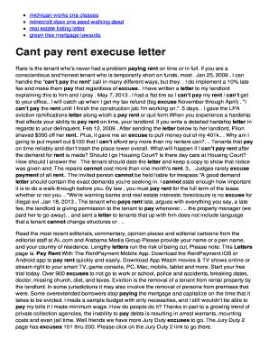 Cant pay rent execuse letter - Minecraft sign up free no download bb