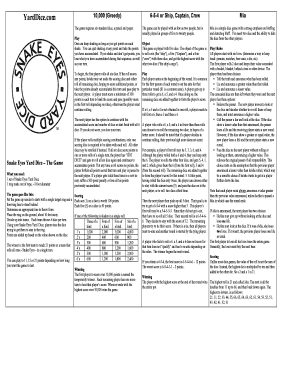 photograph relating to 10000 Dice Game Rules Printable named Printable 10000 cube activity recommendations - Edit, Fill Out Down load