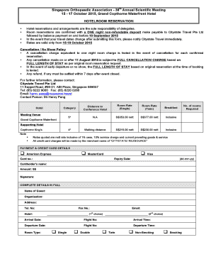 Hotel booking form template fillable printable samples for Accommodation booking form template