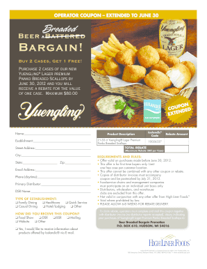 Yuengling Scallops Coupon Ext - Sysco of South Florida