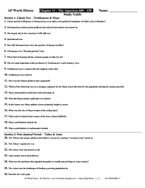 Fillable Online AP WH Chapter 11 - Study Guide pdf - Mr  Mulford