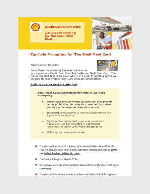 fill online - Shell Fleet Card