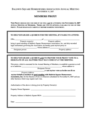 proxy form template