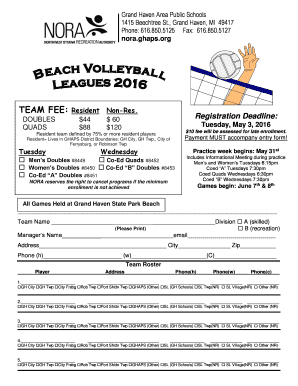 modif beach volleyball form