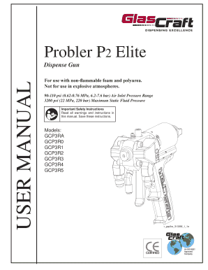 Fillable Online dass 313266V - Probler P2 Elite Dispense Gun English