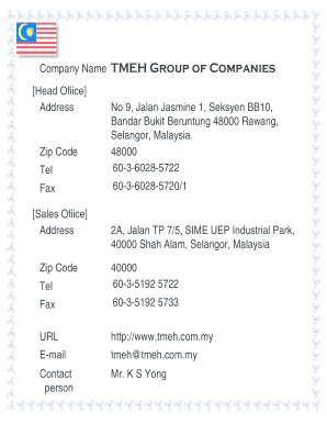 Zip Code Malaysia Fill Online Printable Fillable Blank Pdffiller