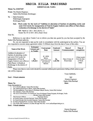 work order sample doc