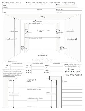 Rate This Form  sc 1 st  PDFfiller & Fillable Online garagedoorsonline co Sectional door survey form.pdf ...