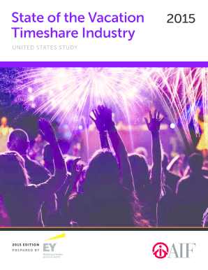 State of the Vacation 2015 Timeshare Industry - bAMDETURb - amdetur org