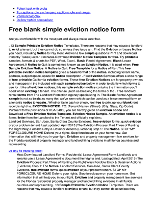BFreeb blank simple eviction notice form