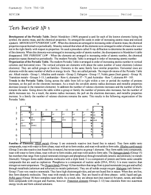 Periodic table of elements with names and symbols forms and chemistry form tr45a name review date period test review 4 development of the periodic urtaz Images