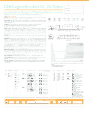 Fill Online  sc 1 st  PDF Filler & Fillable Online SurgicalMedical ML-Ox Series - Kurtzon Lighting ... azcodes.com