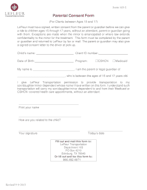 parental consent letter sample to Download in Word & PDF