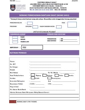 Permohonan Zakat Pahang Fill Online Printable Fillable Blank Pdffiller