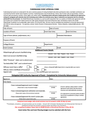 FUNDRAISING EVENT APPROVAL FORM - advancement csusb