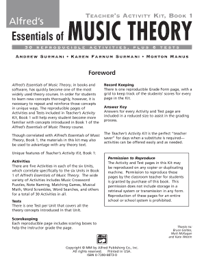 Alfred S Essentials Of Music Theory Teacher S Activity Kit Complete Pdf Fill Online Printable Fillable Blank Pdffiller