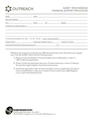Fill out print download court forms in word pdf short term missions financial support application 1 2 3 altavistaventures Gallery